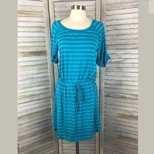 Caslon Striped Jersey Shirt Dress Sz XS